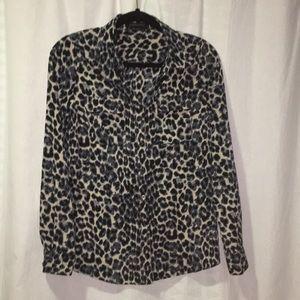 BCBG Cheetah Blouse